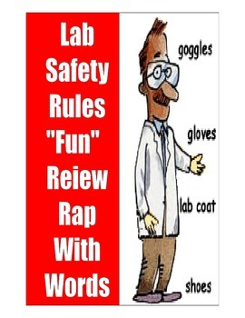 LAB SAFETY RULES RAP   11-PAGES with LAB SAFETY TEST 3-DAY