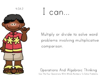 tropical Theme 4th Fourth Common Core Posters Math Mathema