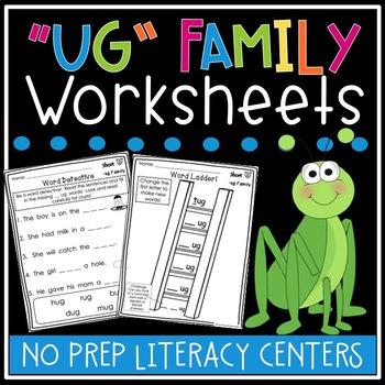 ug Word Family Worksheets