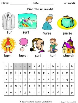 ur phonics lesson plans, worksheets and other teaching resources