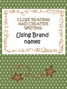 using brand names in creative writing