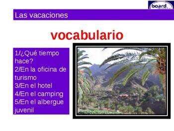 vocabulario vacaciones