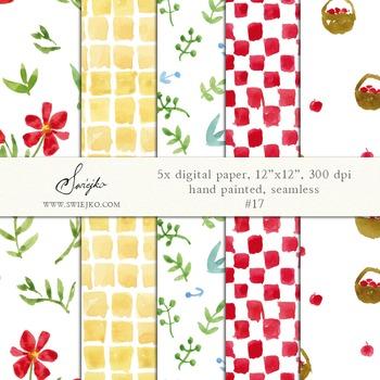 watercolor digital paper, seamless pattern, chessboard, pi
