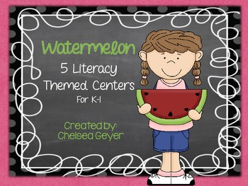 {watermelon} literacy centers