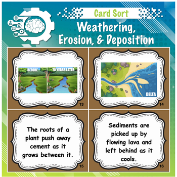weathering, erosion, deposition card sort