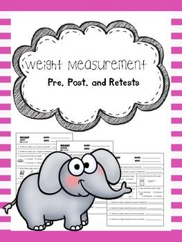 weight measurement pretest, posttest, and retest