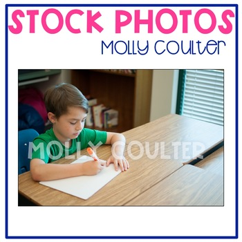 Stock Photo Styled Image: Student With Whiteboard #2 -Pers
