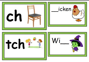 who works here? - digraphs wh, ch, tch