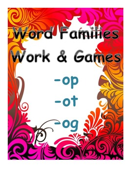 word family work and games