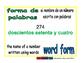 word form/fomra de palabras prim 1-way blue/verde