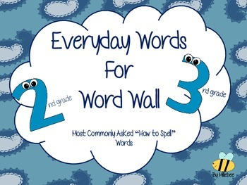 word wall for 2nd/3rd grade