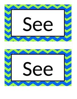 Editable word wall word poster