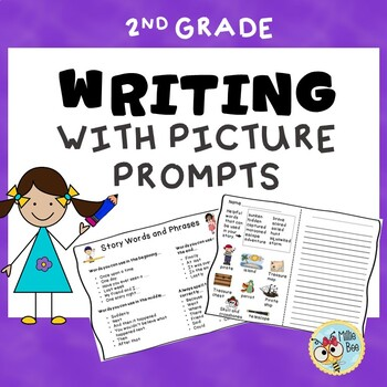 Primary Writing Center with Picture Prompts and Story Starters