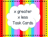 x greater x less Task Cards