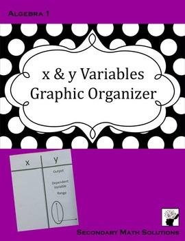 x & y Variables Graphic Organizer