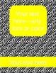 zebra binder covers (editable)--yellow