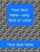 zebra binder covers (editable)--blue