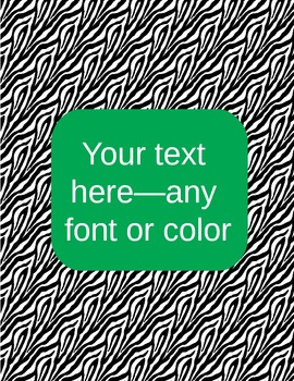 zebra binder covers (editable)--green