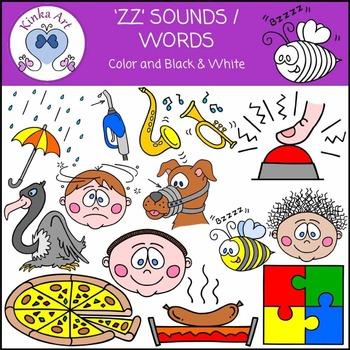 zz Sounds / Words Clip Art