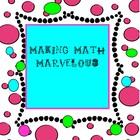 Making Math Marvelous
