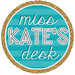 Miss Kate's Desk